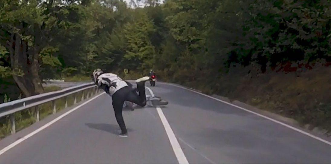 Şile'de ilginç motosiklet kazası!