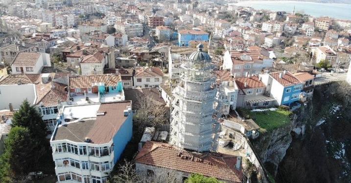 Şile Feneri restorasyonu havadan görüntülendi