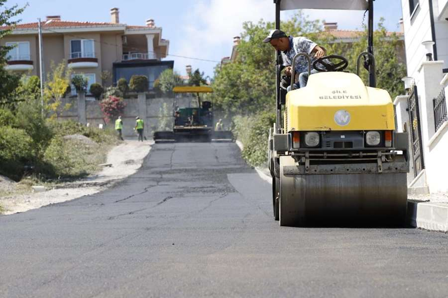 Şile'de 15 bin ton asfalt atılacak