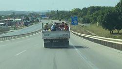 Şile yolunda tehlikeli hareketler